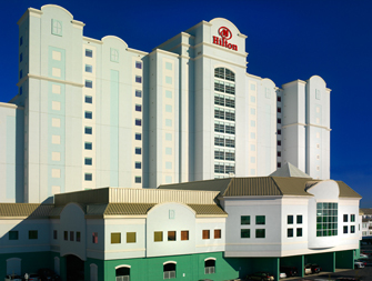 Hilton Hotel, Ocean City, MD - glass windows provided by AR Myers Glass